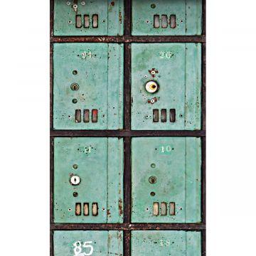fotomurale cassette per le lettere verde del mare