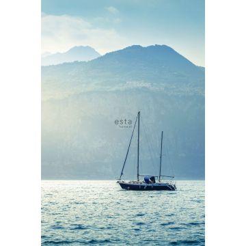 fotomurale barca a vela blu