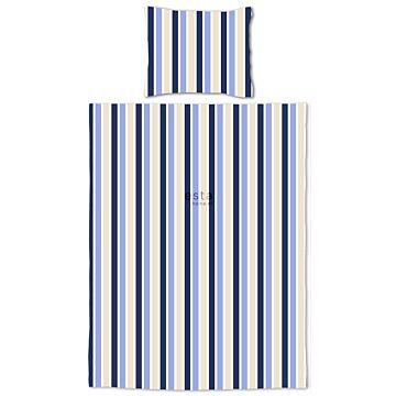 completo compripiumino junior strisce blu e beige