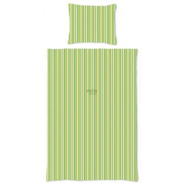 completo compripiumino singolo strisce verde limetta