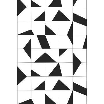fotomurale motivo delle piastrelle bianco e nero