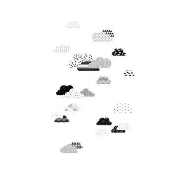 fotomurale nuvole bianco e nero