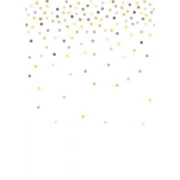 fotomurale punti di coriandoli giallo e grigio