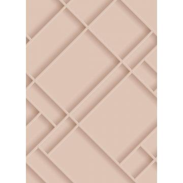 fotomurale pannelli a muro rosa tenue