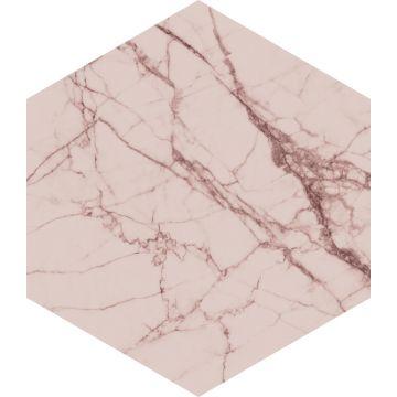 adesivo da parete marmo rosa grigio