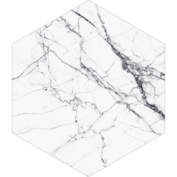 adesivo da parete marmo bianco e nero