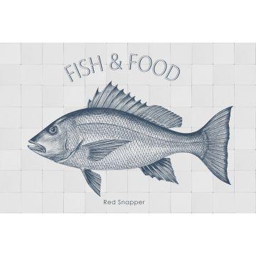 adesivo da parete pesce blu