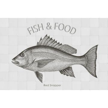 adesivo da parete pesce nero