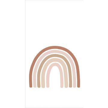 fotomurale arcobaleno terracotta, rosa tenue e beige