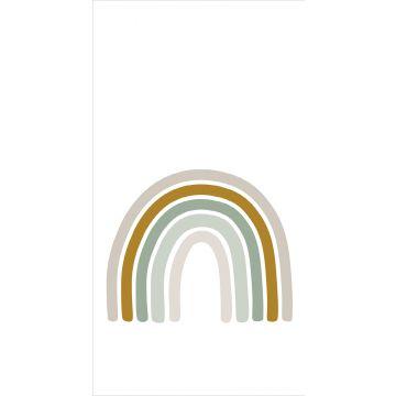fotomurale arcobaleno verde grigiastro, giallo ocra e beige