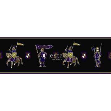 bordo di carta da parati cavalieri viola