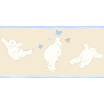 bordo di carta da parati orsi beige