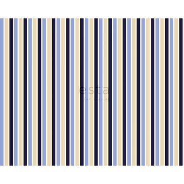 tessuto strisce blu e beige