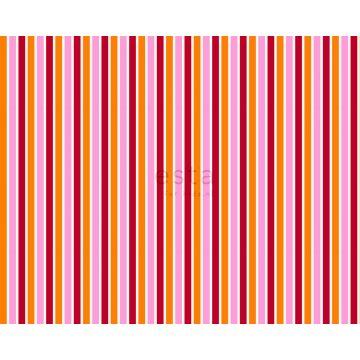 tessuto strisce rosa e arancione