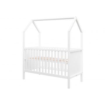 letto junior a forma di casa bianco