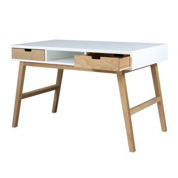 scrivania Lynn bianco e naturale